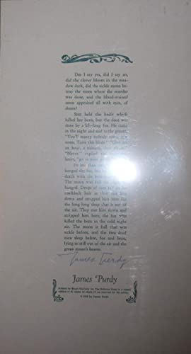 Untitled Broadside (Did I say yes, did I say no, .) Signed Copy