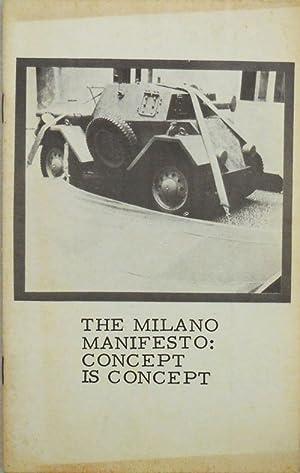 The Milano Manifesto: Concept Is Concept (Signed): Cardarelli, Joseph