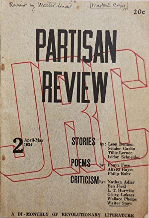 Partisan Review A Bi-Monthly of Revolutionary Literature Published by the John Reed Club of New Y...