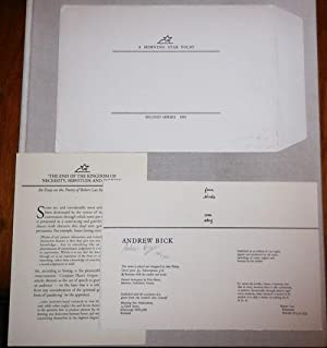 A Morning Star Portfolio Second Series (Signed by Bick): Lax, Robert and Andrew Bick (plus an essay...