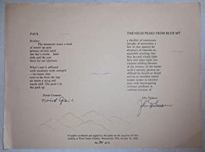 Poetry Broadside - Paul by Giannini and The High Peaks From Blue Mt. by Perlman (Signed by Both)