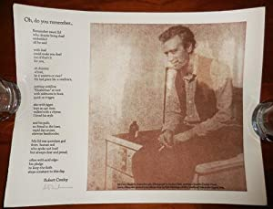 Oh, Do You Remember (Signed Poetry Broadside)