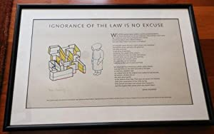 Ignorance Of The Law Is No Excuse (Signed Poetry Broadside): Ashbery, John