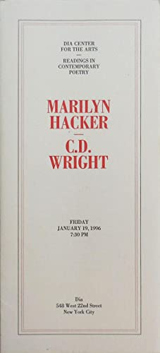 Dia Center for the Arts Broadsides: Marilyn Hacker & C. D. Wright