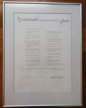 22 ointments against the hand of a ghost (Signed Broadside Poem)