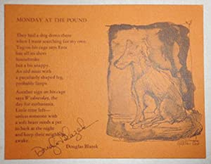 Monday At The Pound (Signed Poetry Postcard)
