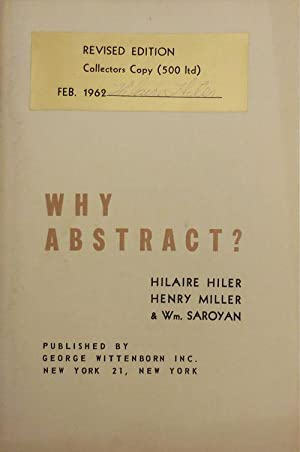 Why Abstract? (Signed by Hilaire Hiler)