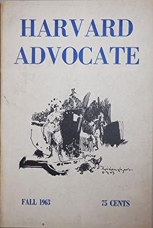 Harvard Advocate Fall 1963 Issue Volume XCVIII, Number 1: Grenier, Robert, Goldfarb, Sidney et al.
