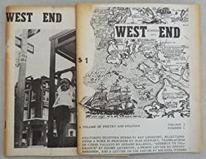 West End Volume 2 Number 1 and Volume 3 Number 2 (Both Inscribed)