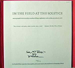 In The Field At The Solstice (Inscribed); Seven Epitaphs For His Friends: Williams, Jonathan