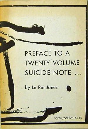 Preface To A Twenty Volume Suicide Note: Jones, Le Roi