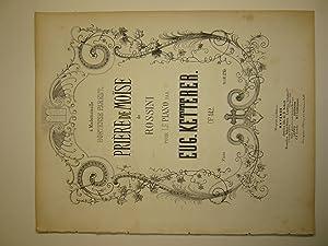 Priere d Moise de Rossini pour le: Ketterer, Eug.