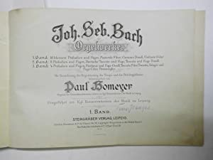 Orgewerke. 1. Band : 16 kleine Präludien: Bach, Joh. Seb.