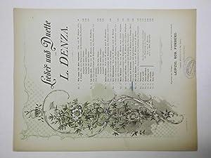 Lieder und Duette No. 6. Quelle und: Denza, L.