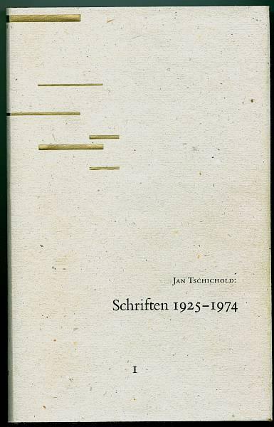 Schriften: 1925 - 1974. Band I. herausgegeben: Tschichold, Jan
