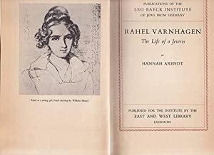 Rahel Varnhagen. The life of a jewess.