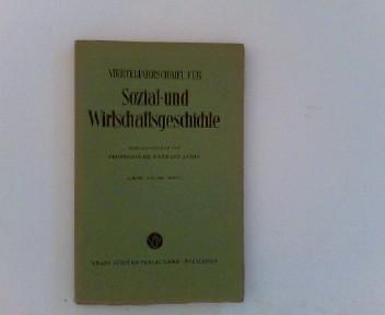 Vierteljahrschrift für Sozial- und Wirtschaftsgeschichte.- 49. Bd.,: Aubin (Hrsg.), Hermann: