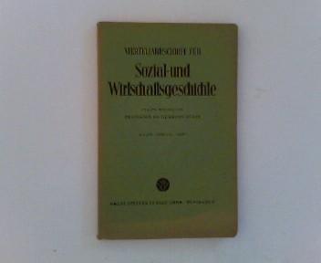 Vierteljahrschrift für Sozial- und Wirtschaftsgeschichte.- 46. Bd.,: Aubin (Hrsg.), Hermann:
