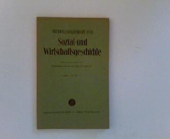 Vierteljahresschrift für Sozial- und Wirtschaftsgeschichte. 43. Bd.,: Geschichte - Aubin,