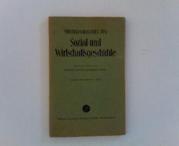Vierteljahresschrift für Sozial- und Wirtschaftsgeschichte. 48. Bd.,: Geschichte - Aubin,