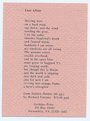 Love Affair: FOERSTER, Richard
