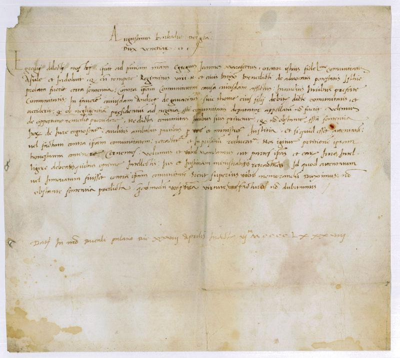 Urkunde.: Barbarigo, Agostino, Doge