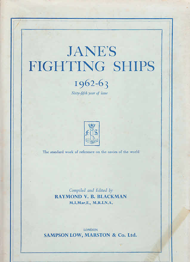 JANE`S FIGHTING SHIPS 1962 - 63: Raymond V. B.,
