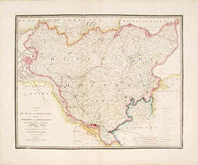 A Map of the Dutchy of Holstein,: WYLD, James.