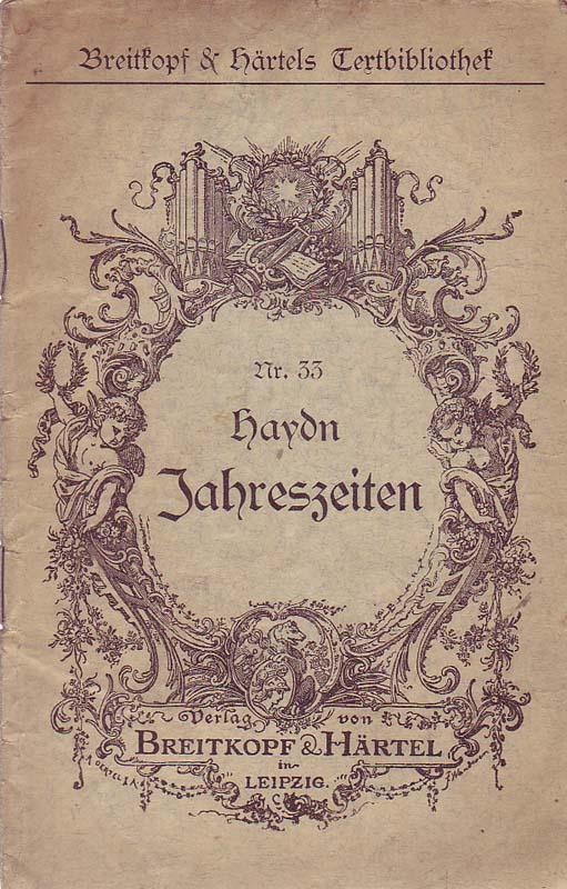 Die Jahreszeiten: Haydn, Joseph: