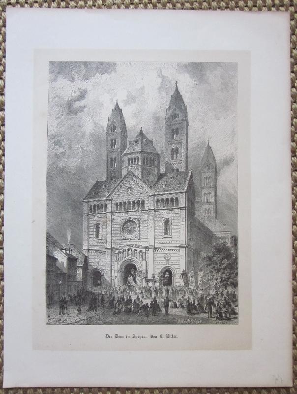 Der Dom in Speyer. Holzstich nach L.: Speyer.