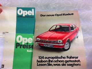 3 Prospekte - 1. Der neue Opel: Opel, Werbe-Prospekt: