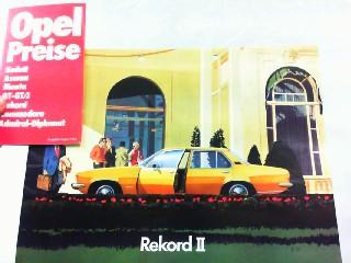 Opel Rekord II. Mit beiliegender Preisliste für: Opel, Werbe-Prospekt: