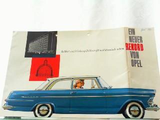 In Wert und Wirkung: Zeitbewußt und klassisch: Opel, Werbe-Prospekt: