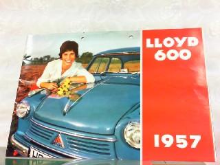Lloyd 600 1957. Mit beiliegender Preisliste von: Lloyd, Werbe-Prospekt:
