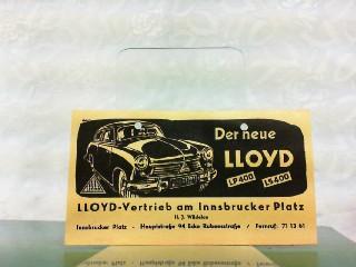 Lloyd LP 400 / LS 400. Lloyd-Vertrieb: Lloyd, Werbe-Prospekt:
