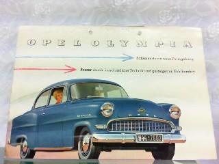 Opel Olympia - Schöner durch neue Formgebung,: Opel, Werbe-Prospekt:
