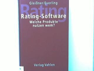 Rating-Software : welche Produkte nutzen wem?.: Gleißner, Werner und