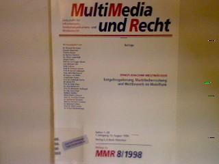 Entgeltregulierung, Marktbeherrschung und Wettbewerb im Mobilfunk MultiMedia: Mestmäcker, Ernst-Joachim:
