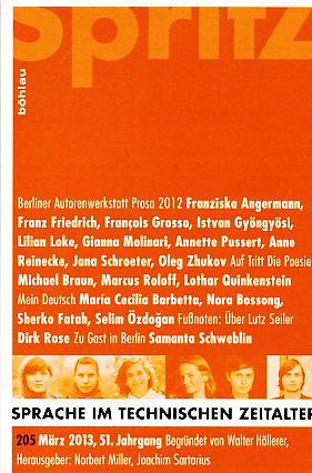 Sprache im technischen Zeitalter. Heft 205. März: Miller, Norbert (Hrsg.)