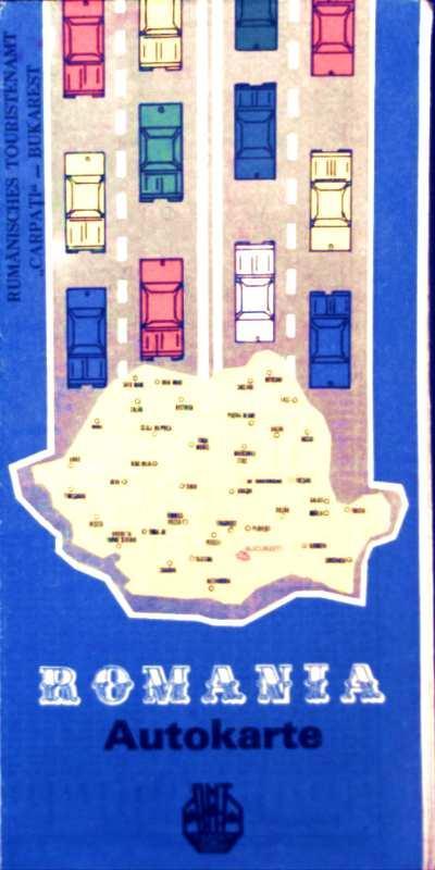 Autokarte Romania (Rumänien): Institut für Geodasie: