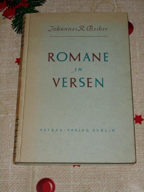 Romane in Versen.: Becher, Johannes R.: