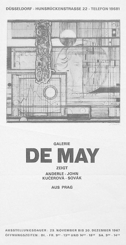 Plakat / poster: Galerie De May zeigt: Sovak, Pravoslav: