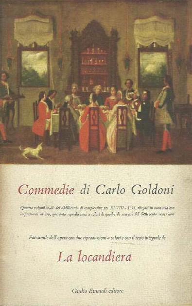 Commedie Di Carlo Goldoni La Locandiera Da Goldoni Carlo 1952 Laboratorio Del Libro
