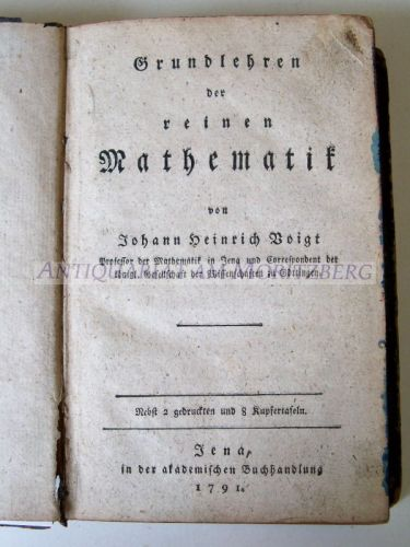 Grundlehren der reinen Mathematik. EA.: Voigt, Johann Heinrich: