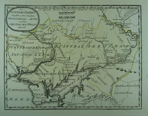 Des Russischen Reiches Statthalterschaften Neurussland, Asow, und: Ukraine