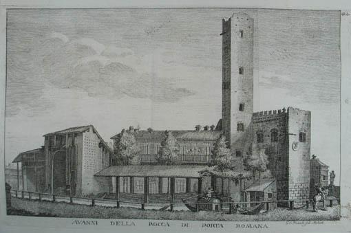 Avanzi della Rocca di Porta Romana. Kupferstich: Mailand (Milano)