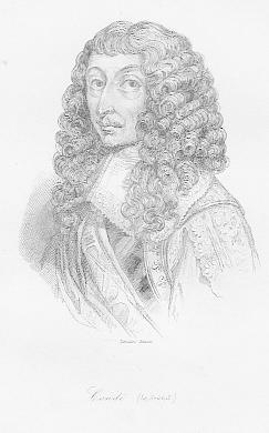 Porträt. Brustbild. Original - Stahlstich von Lemaitre,: Conde, Louis II.