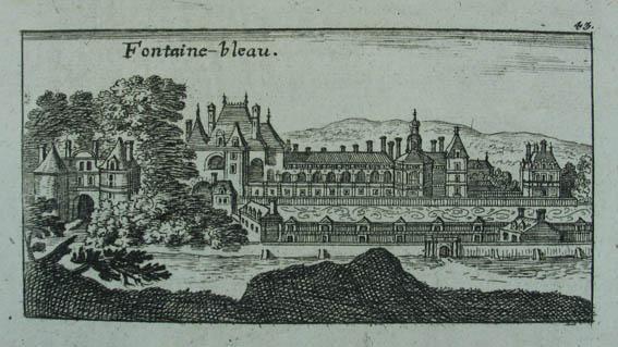 Fontaine-bleau. Kupferstich v. Christoph Riegel. Nürnberg um: Fontainebleau