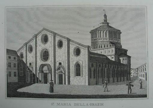 St. Maria della Grazie. Kupferstich aus C.: Mailand (Milano)