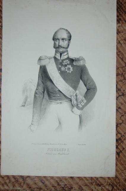 Porträt. Dreiviertelfigur in Uniform mit Orden. Anonyme: Nikolaus I, Pawlowitsch